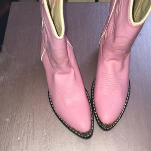 Old west pink boots EUC